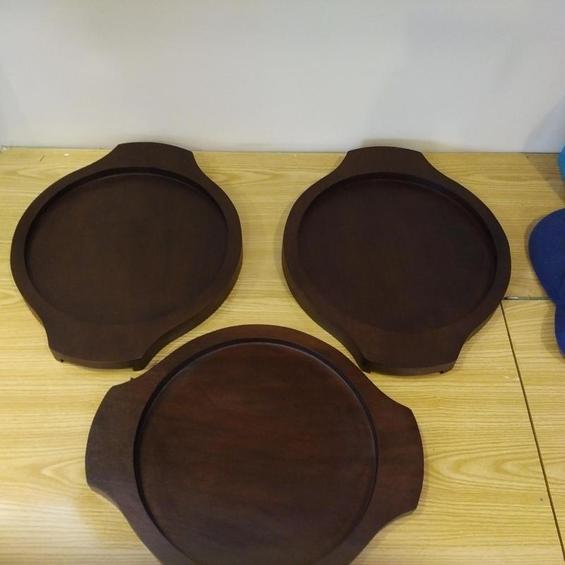 Round Tiles Wooden Holders