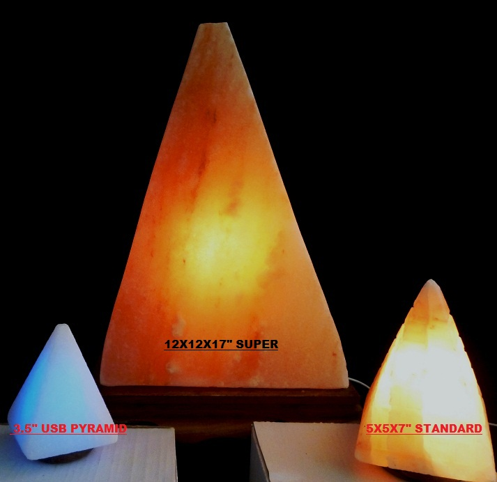 Super Pyramid Lamp Himalayan Salt SalzLampen Lamp